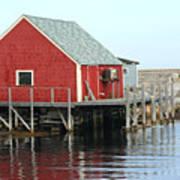 Fishermans House On Peggys Cove Art Print