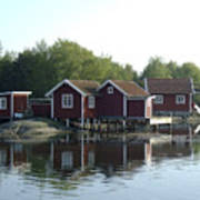 Fisherman's Huts Art Print