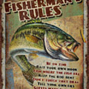 Fisherman's Rules Art Print by JQ Licensing