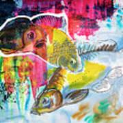 Fishes In Water, Original Painting Art Print