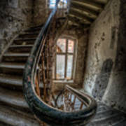 Fisheye Stairs Art Print