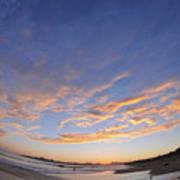 Fisheye Sunset Art Print