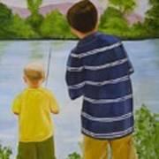 Fishin Art Print