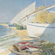 Fishing 1895 Art Print