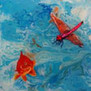 Fishing Around Art Print