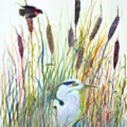Fishing Blue Heron Art Print