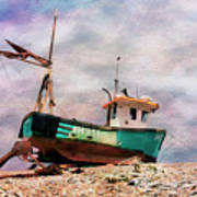 Fishing Boat At Aldeburgh Art Print