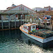 Fishing Boat At Chatham Fish Pier Art Print
