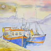 Fishing Boat At Dock Art Print