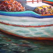 Fishing Boatgreek  Art Print