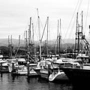 Fishing Boats . 7d8208 Art Print by Wingsdomain Art and Photography