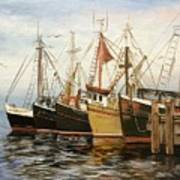 Fishing Boats At Hh Art Print