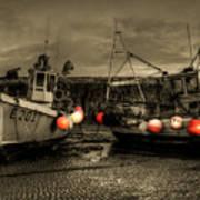 Fishing Boats At Lyme Regis Art Print