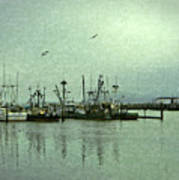 Fishing Boats Columbia River Art Print