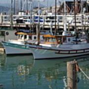 Fishing Boats In San Francisco Art Print