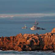 Fishing Boats On Monterey Bay Art Print