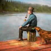Fishing - Booze Hound 1922 Art Print