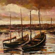 Fishing Cutters  Art Print