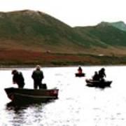 Fishing For Salmon - Karluck River - Kodiak Island Alaska Art Print
