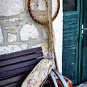 Fishing Gear In Primosten, Croatia Art Print