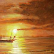 Fishing In Zanzibar Art Print