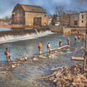 Fishing In Clinton Art Print