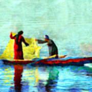 Fishing In The Nile Art Print