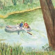 Fishing Lake Tanko Art Print