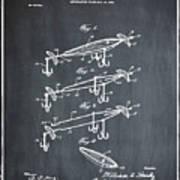Fishing Lure Patent 1904 Chalk Art Print