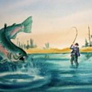 Fishing Montana Art Print