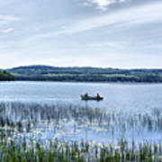 Fishing On Lake Carmi Art Print
