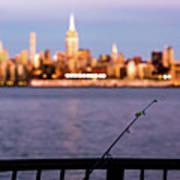 Fishing On The Hudson Art Print