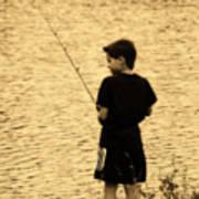 Fishing Patience Art Print