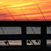 Fishing Poles Mount Sinai New York  Art Print