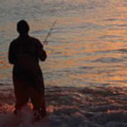 Fishing Reflections Art Print