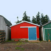 Fishing Shacks  Prince Edward Island  Canada Art Print