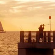 Fishing The Gulf Art Print