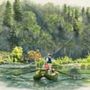 October Morning Fishing The Trinity River Art Print