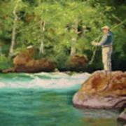 Fishing The Umpqua Art Print