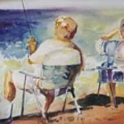 Fishing Together Art Print