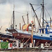 Fishing Vessel Ranger Drydock Art Print