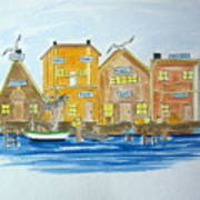 Fishing Village 2 Art Print