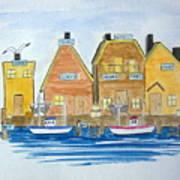 Fishing Village 3 Art Print