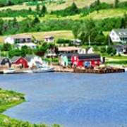 Fishing Village In Prince Edward Island Art Print