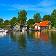 Fishing Village Of Vaxholm Sweden Art Print