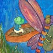 Fishing With Rose Marie Art Print