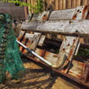 Fishnets And Planks Art Print