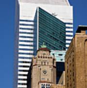 Five Building New York  Art Print