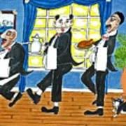Five Italian Waiters Art Print