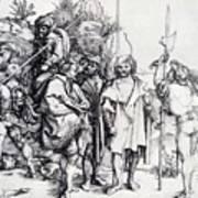 Five Lansquenets And An Oriental On Horseback 1495 Art Print